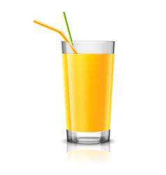 Orange juice glass vector image vector image