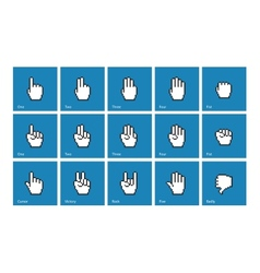 Pixel cursors icons mouse hands vector image vector image