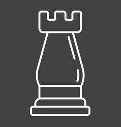 Strategic plan line icon business and rook chess vector