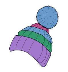 winter cap vector image vector image