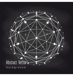 Abstract connect globe on chalkboard vector image vector image