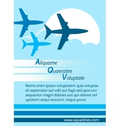 Airlines retro poster vector