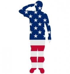 American salute vector image