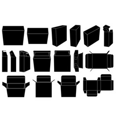 boxes set isolated vector image vector image