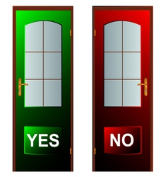 Buttons yes and no vector image vector image