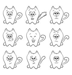 Cute cats emotions vector image vector image