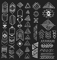 Hand drawn doodle native american symbols set vector image