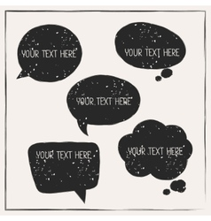 Set of abstract retro grunge speech bubbles vector image vector image