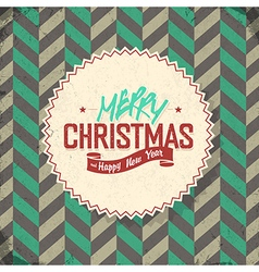 vintage lettering merry christmas vector image