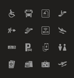 Airport - flat icons vector