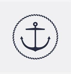 Anchor emblem vector
