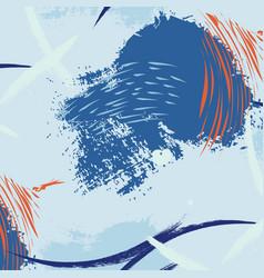 Aquatic brush stroke minimal pattern summer vector