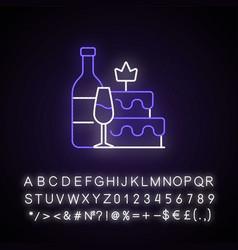 Bachelorette party neon light icon vector