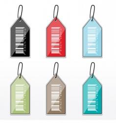barcode tags vector image