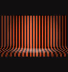 Black orange line pattern studio display empty vector