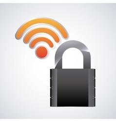 Black padlock icon Security system design vector