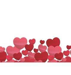 card valentine hearts love design vector image
