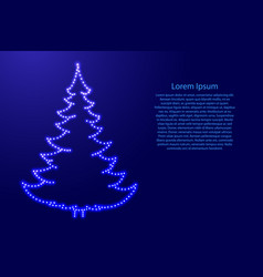 christmas tree and happy new year decoration from vector image