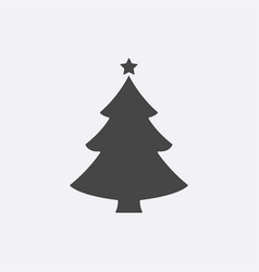 christmas tree modern flat pictogram internet vector image