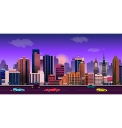 City game background 2d application design vector