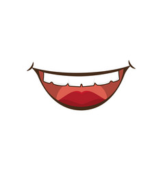 Comic mouth icon vector