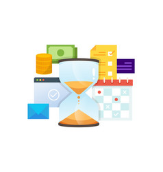 concept time management technology vector image
