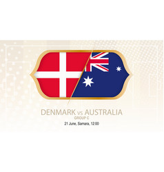 Denmark vs australia group c football vector