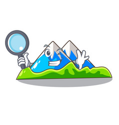 Detective miniature mountain in the character form vector