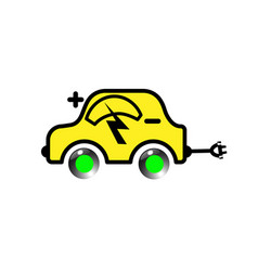 electric yellow vehicle vector image