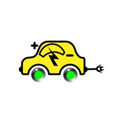Electric yellow vehicle vector