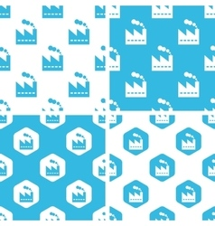 Factory patterns set vector