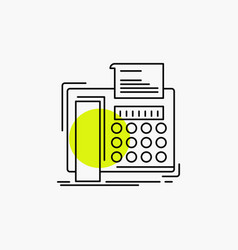 fax message telephone telefax communication line vector image