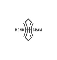 Geometric monogram he vector