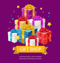 gift shop ad vector image
