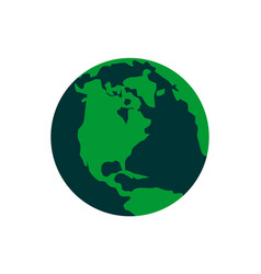 globe world logo icon vector image