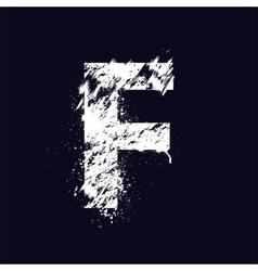 Grunge letter F vector