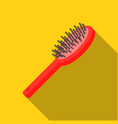 Hairbrush icon in flat style isolated on white vector