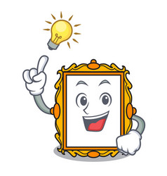 have an idea picture frame mascot cartoon vector image