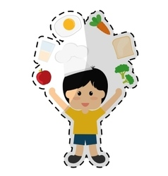healthy eating icon image vector image