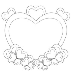 heart shaped frame for valentine day card vector image