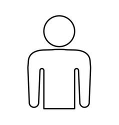 Human symbol pictogram vector