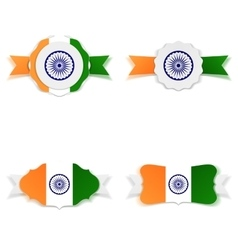 India Independence Day festive Labels Set vector