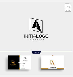 Initial a abstract geometric logo template vector