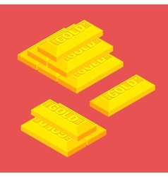 Isometric golden bars vector