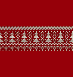 Knitted seamless color christmas pattern vector