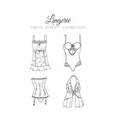 lingerie set Sexy underwear design vector image