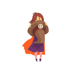 little witch character cute little girl in vector image