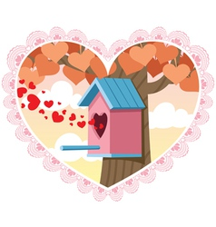 love nest vector image