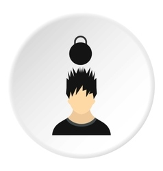 Male avatar and weight icon flat style vector