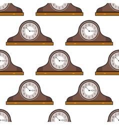 Mantel clock Seamless pattern Decorative vector image